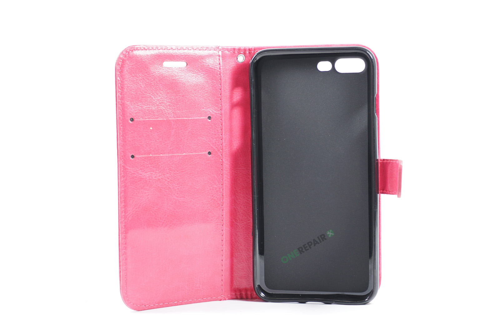 351830_iPhone_7+_8+_Flipcover_Classic_Cover_Pink_Lyseroed_OneRepair_WM_00002
