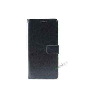 Huawei P20 Lite, Flipcover, cover, Plads til kort, Sort