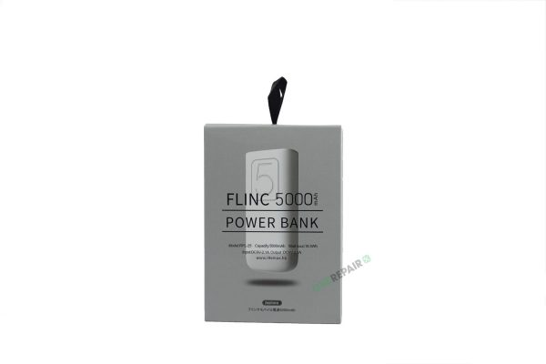 lille Powerbank 5000mAh Hvid