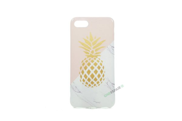 iPhone 7, iPhone 8, Ananas, Sommer, marmor, Lyserød