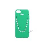 iPhone 7, iPhone 8, Grøn cover, Krokodille