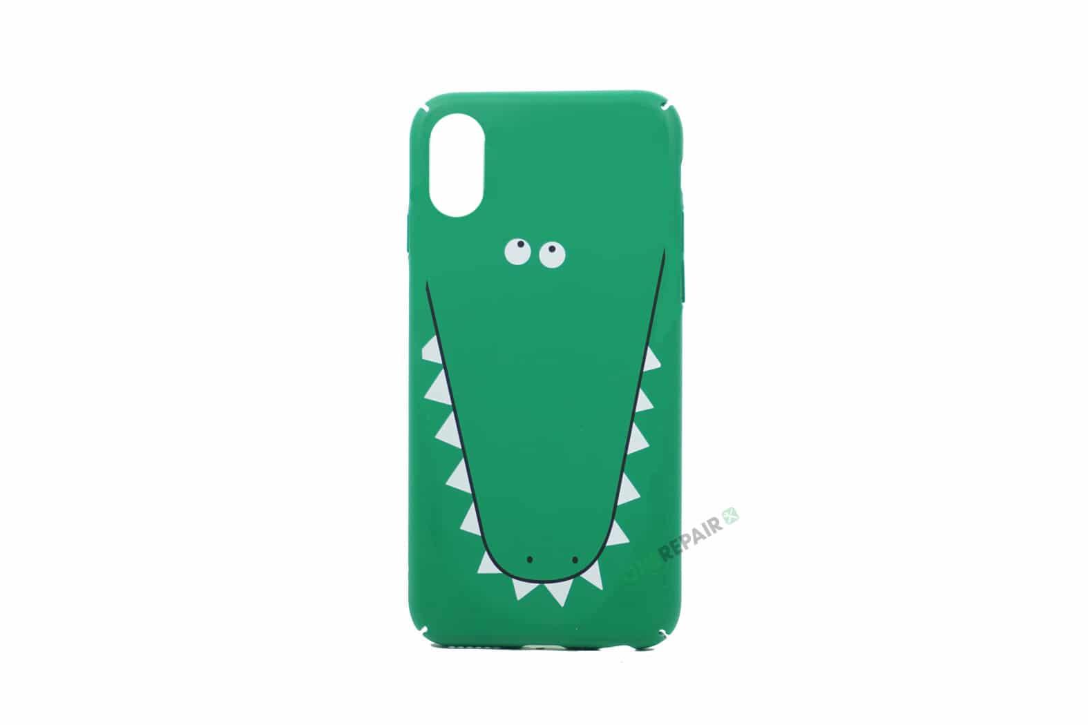 351945_iPhone_x_XS_Plastik_Krokodille_Motiv_Cover_Groen_OneRepair_00001