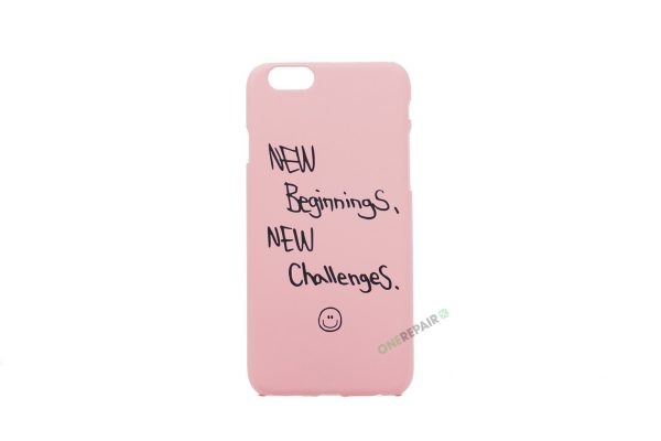 iPhone 6, 6S, A1549, A1586, A1589, A1633, A1688, A1700, A1691, Apple, Bagcover, Cover, Motiv, Pink, Lyseroed, Lyserød, New Beginnings, New challenges,, Billig