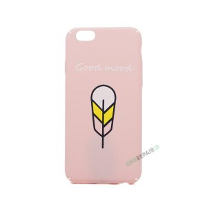 iPhone 6, 6S, A1549, A1586, A1589, A1633, A1688, A1700, A1691, Apple, Bagcover, Cover, Motiv, Pink Lyseroed, Lyserød, Good mood, Citat, Billig