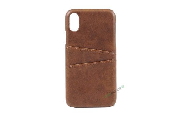iPhone, X Xs Max, Bagcover, cover, plads til kort, billig, lysebrun, brun