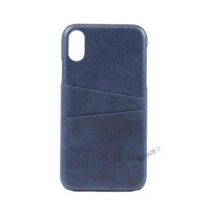 iPhone, X Xs Max, Bagcover, cover, plads til kort, billig, blaa, blå,
