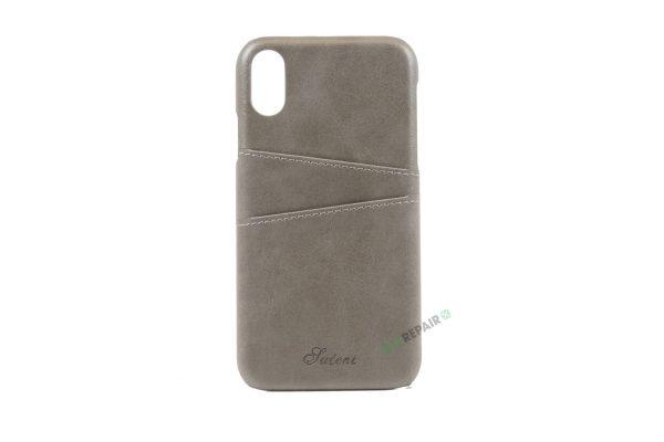 iPhone, X Xs Max, Bagcover, cover, plads til kort, billig, graa, grå