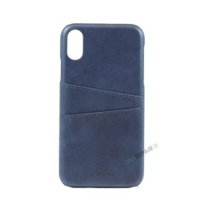 iPhone Xr, A1984, A2105, A2106, A2108, Blaa, Blå, Navy blue, Plads til kort, Billig, Cover, Bagcover,
