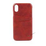 iPhone Xr, A1984, A2105, A2106, A2108,Rød, Roed, Plads til kort, Billig, Cover, Bagcover,