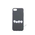 iPhone 7, iPhone 8, Panda cover, Søde, Sort
