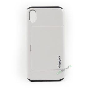 iPhone Xr, A1984, A2105, A2106, A2108, Hardcase, Haandvaerker, Håndværker, Hvid, Plads til kort, Billig, Cover, Bagcover,
