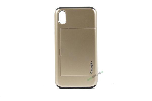 iPhone Xr, A1984, A2105, A2106, A2108, Hardcase, Haandvaerker, Håndværker, Guld, Plads til kort, Billig, Cover, Bagcover,