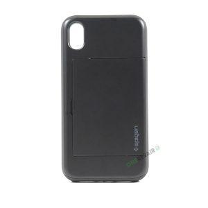 iPhone, X Xs Max, Hardcase, cover, håndværker cover, haandvaerkercover, plads til kort, billig, Sort