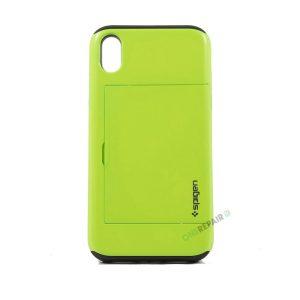 iPhone, X Xs Max, Hardcase, cover, håndværker cover, haandvaerkercover, plads til kort, billig, grøn, groen