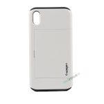 iPhone, X Xs Max, Hardcase, cover, håndværker cover, haandvaerkercover, plads til kort, billig, Hvid