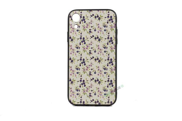 iPhone, X Xs Max, Silikone, Silikonecover, Mobilcover, Mobil cover, blomster, motiv, billig, Lyseroed, Blå, blaa