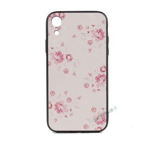 iPhone, X Xs Max, Silikone, Silikonecover, Mobilcover, Mobil cover, blomster, motiv, billig, Lyseroed, lyserød