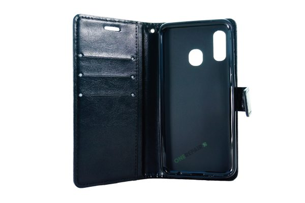 Samsung A20E Sort flipcover
