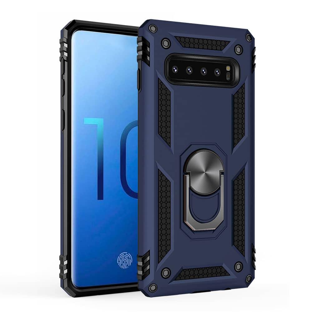 Samsung S10+ cover, Finger grib, blå