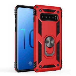 Samsung S10+ cover, Finger grib, Rød