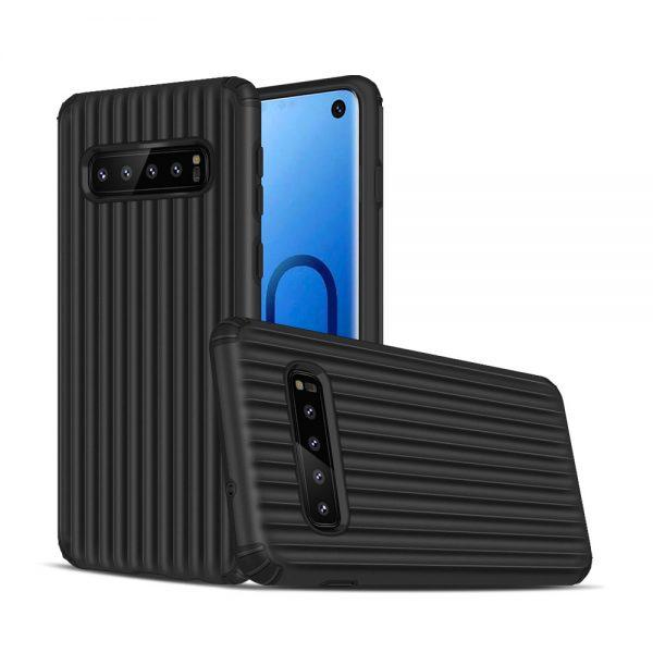 Samsung S10+, S10 Plus, Cover, hardcase, Godt beskyttelse, Sort