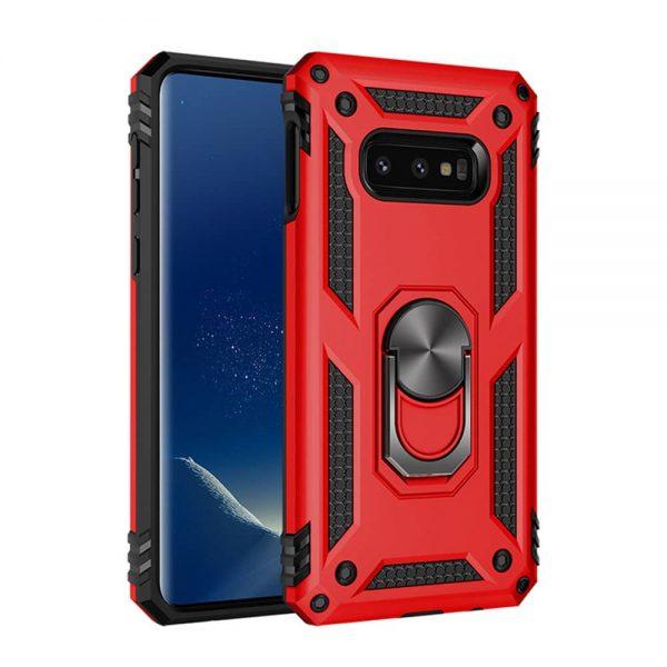 Samsung Galaxy S10e, Finger grib, Cover, Magnet bilholder, Håndværkercover, Børnecover, Billig, Rød, Rødt Beskyttelse