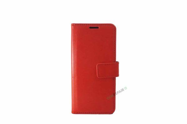 Samsung S10 Plus, S10+, flipcover, Rød, Plads til kort