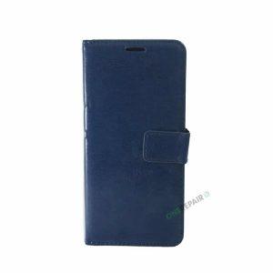 Samsung S10 Plus, S10+, flipcover, Blå, Navy Blue, Plads til kort