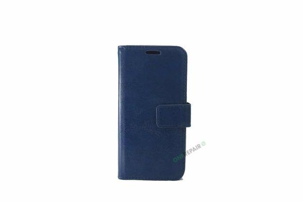 Samsung S10E flipcover, Blå, Navy Blue, cover, Plads til kort