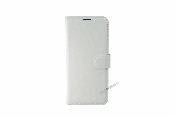 Samsung S10 Plus, S10+, flipcover, Hvid, Plads til kort