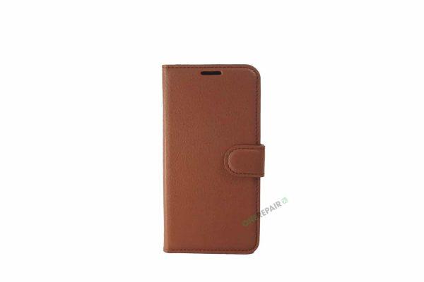 Samsung S10E flipcover, Brun cover, Plads til kort