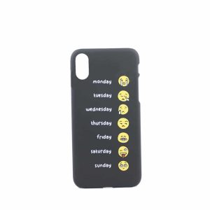 Emoji cover, iPhone x xs, billig, sort
