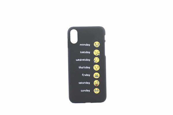 Emoji cover, iPhone x xs, billig, sort
