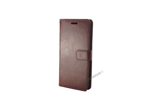 Huawei P20 Lite, flipcover, Brun, Plads til kort