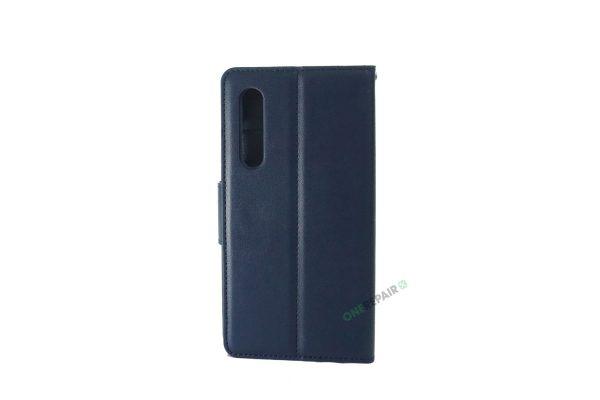 Huawei P30, flipcover, Blå, Navy Blue, Plads til kort