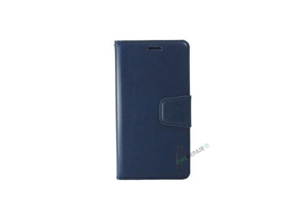 Huawei P20 Lite, flipcover, Blå, Navy Blue, Plads til kort