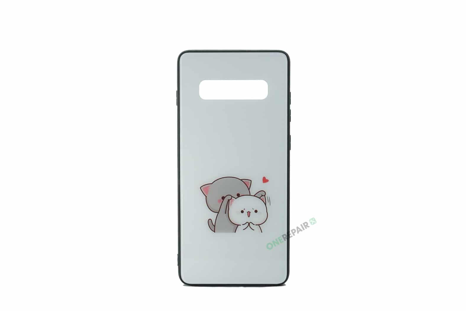 Samsung S10 Plus, S10+, Katte cover hvid