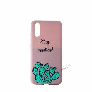 Huawei P20 lyserød cover, Citat, Kaktus