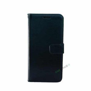Huawei P30 Lite cover, Sort flipcover, Plads til kort