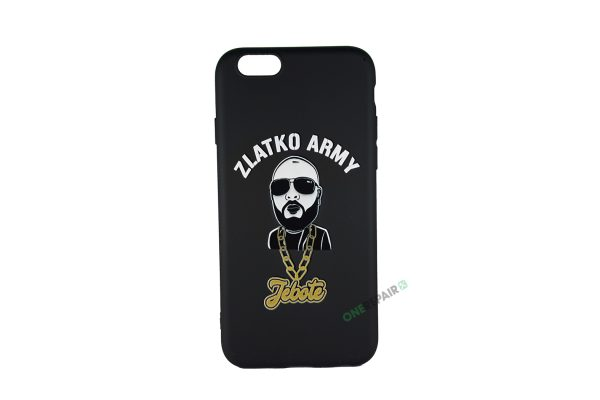 Sort Zlatko Army cover til iPhone 6 og 6S