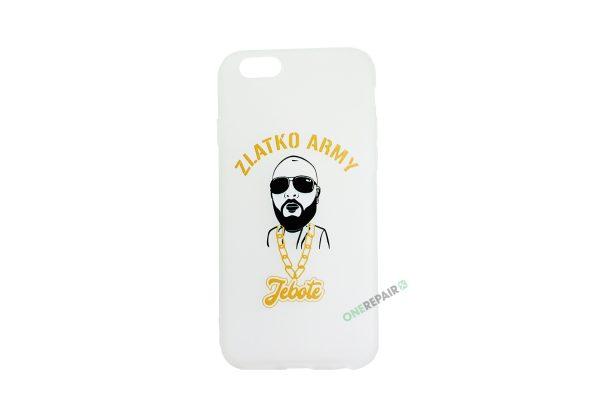 Hvid Zlatko Army cover til iPhone 6 og 6S