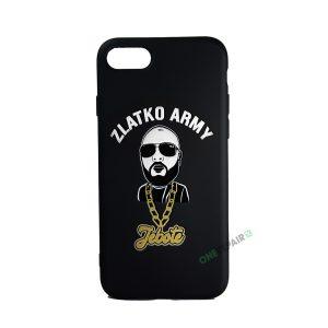 Sort Zlatko Army cover til iPhone 7 og 8
