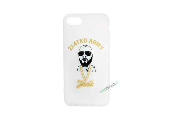 Hvidt Zlatko Army cover til iPhone 7 og 8