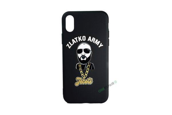 Sort Zlatko Army cover til iPhone X og XS