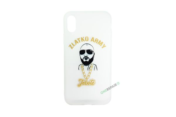Hvid Zlatko Army cover til iPhone X og XS