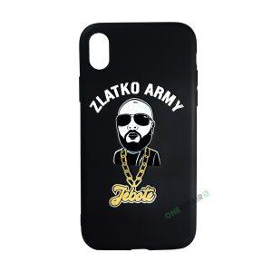 Sort Zlatko Army cover til iPhone XR