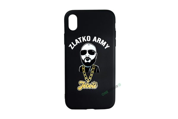 Sort Zlatko Army cover til iPhone XR