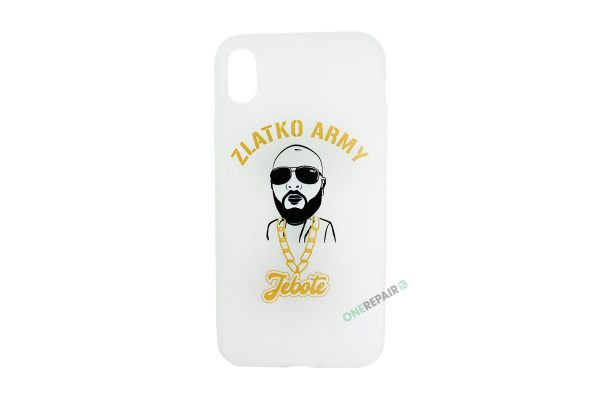 Hvid Zlatko Army cover til iPhone XR