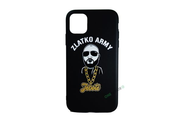 Sort Zlatko Army cover til iPhone 11