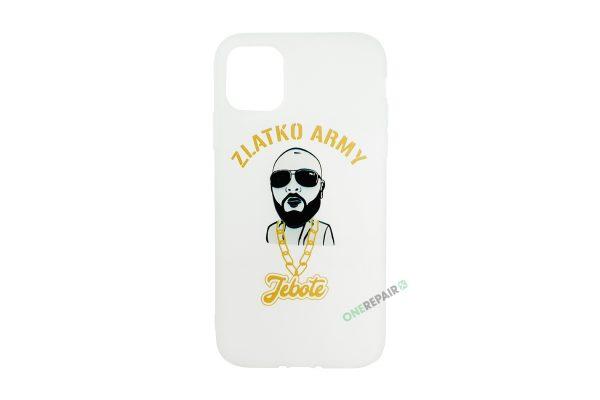 Hvid Zlatko Army cover til iPhone 11